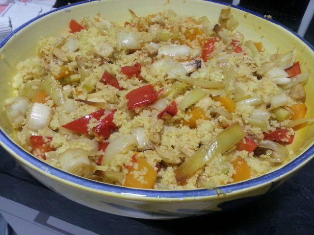 Couscous con verduras Ver receta: http://www.mis-recetas.org/recetas/show/65731-couscous-con-verduras