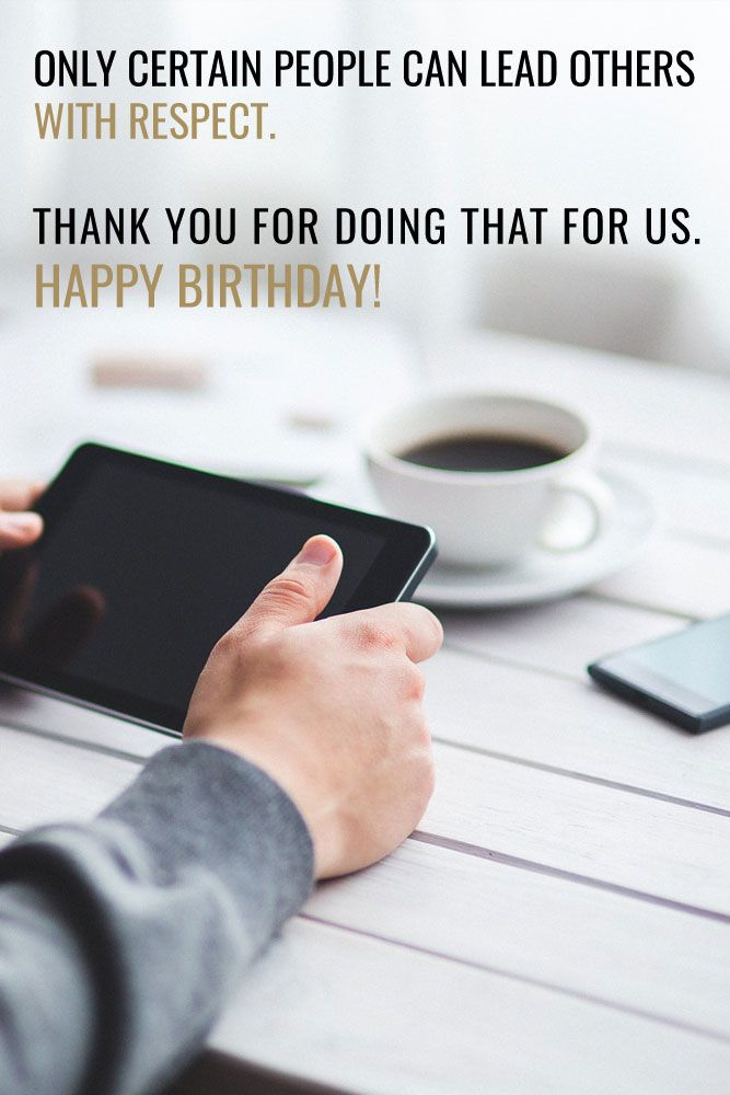 Happy Birthday Wishes for my boss!