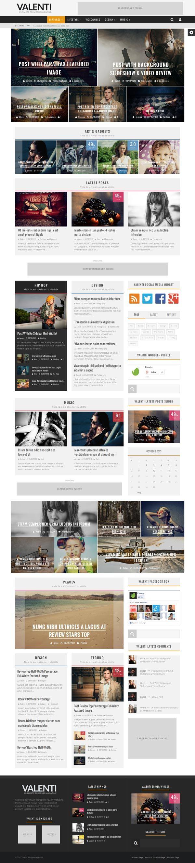 Valenti - WordPress HD Blog and Magazine Theme by Cubell