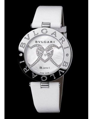 Brand : BVLGARI Collection : B.Zero1 Model : B.Zero1 Reference : BZ35WHDSL2 Complement : Steel - Three Hearts Dial - Leather Strap.€2 950