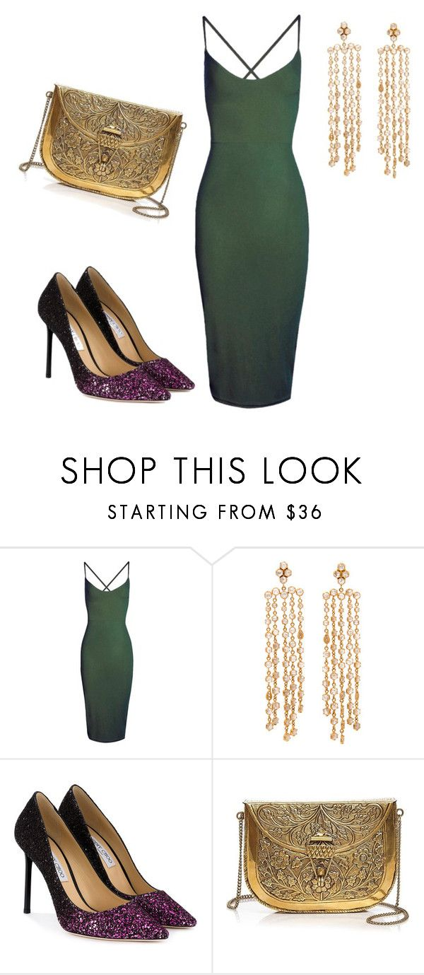 """""""Cocktail party 3"""" by catherinemairi on Polyvore featuring Boohoo, Jimmy Choo and From St Xavier"""