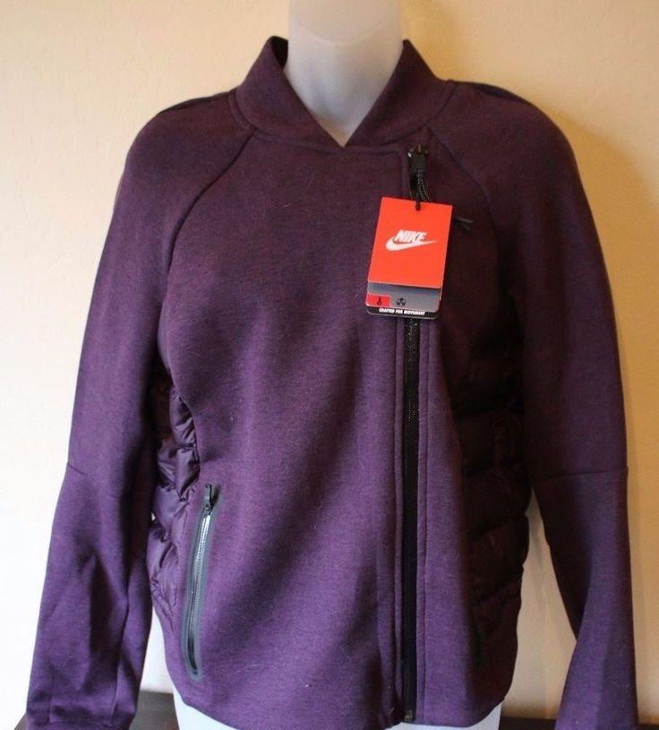 Nike Women's Tech Down Fill Aeroloft Moto Jacket PURPLE Medium M $250 - NEW #Nike #CoatsJackets