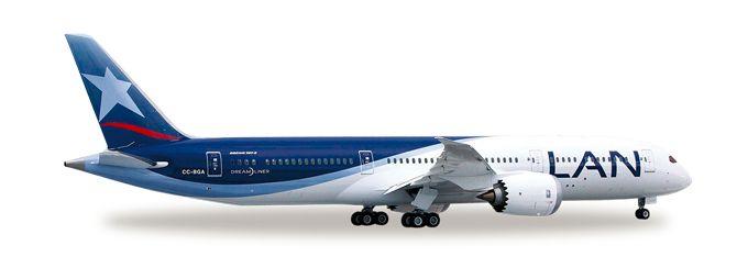 1/500 Herpa LAN Chile Boeing 787-9 Dreamliner Diecast Model