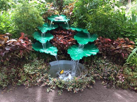 Leaf Waterfall Made From Cement My Work Pinterest