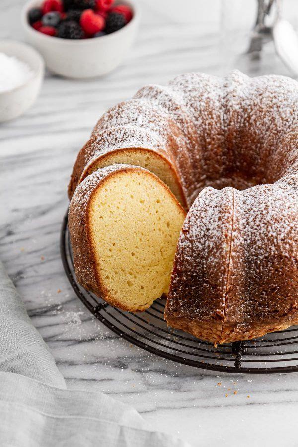 Sour Cream Pound Cake Recipe Girl Versus Dough Recipe In 2020 Sour Cream Pound Cake Pound Cake Recipes Easy Cake Recipes