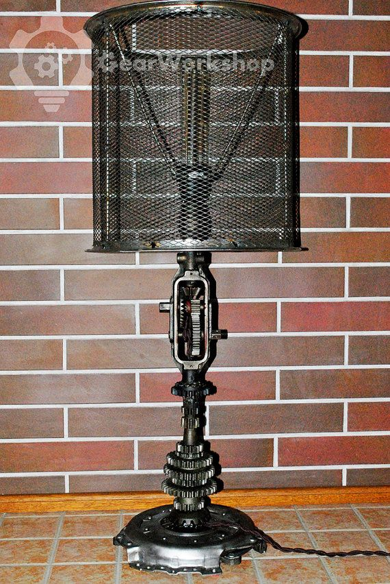 Table lamp from the Soviet hand drill от GearWorkshop на Etsy