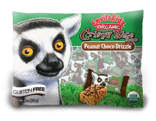 EnviroKidz Organic Peanut Choco Drizzle Crispy Rice Bars - 1 Points + - LaaLoosh