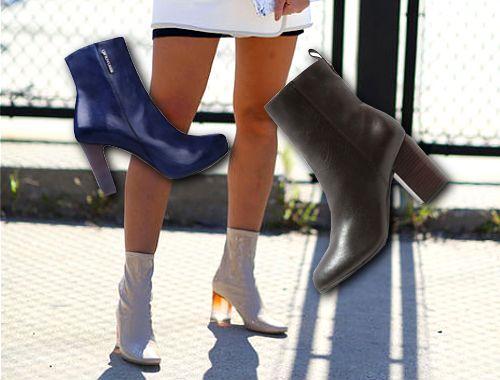 Buty na jesień z wąską cholewką - TRENDY, botki