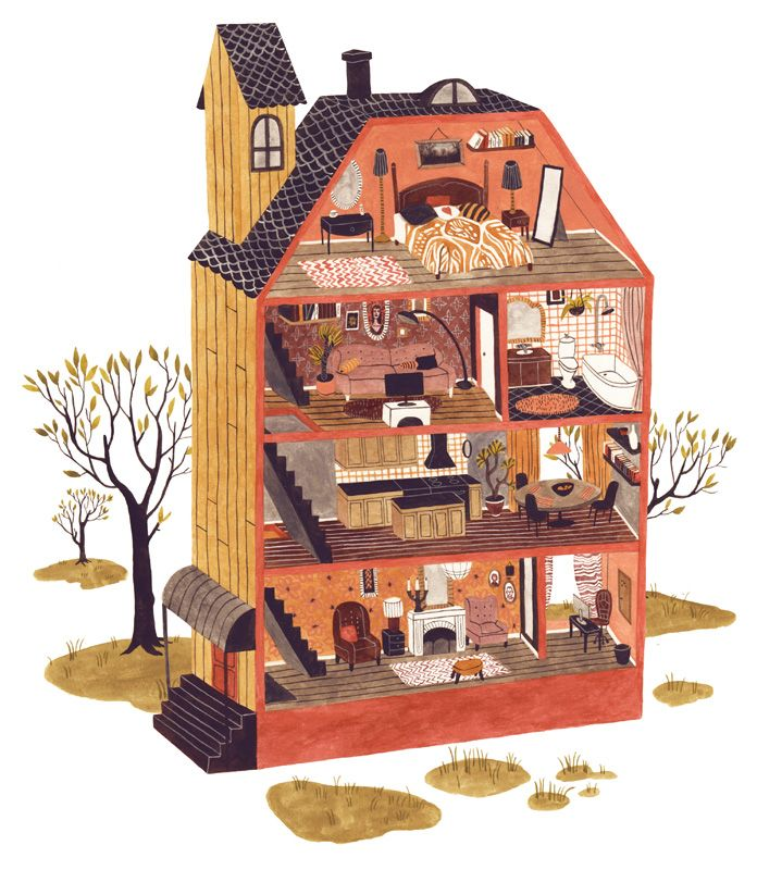 Inspo - dolls house illustration