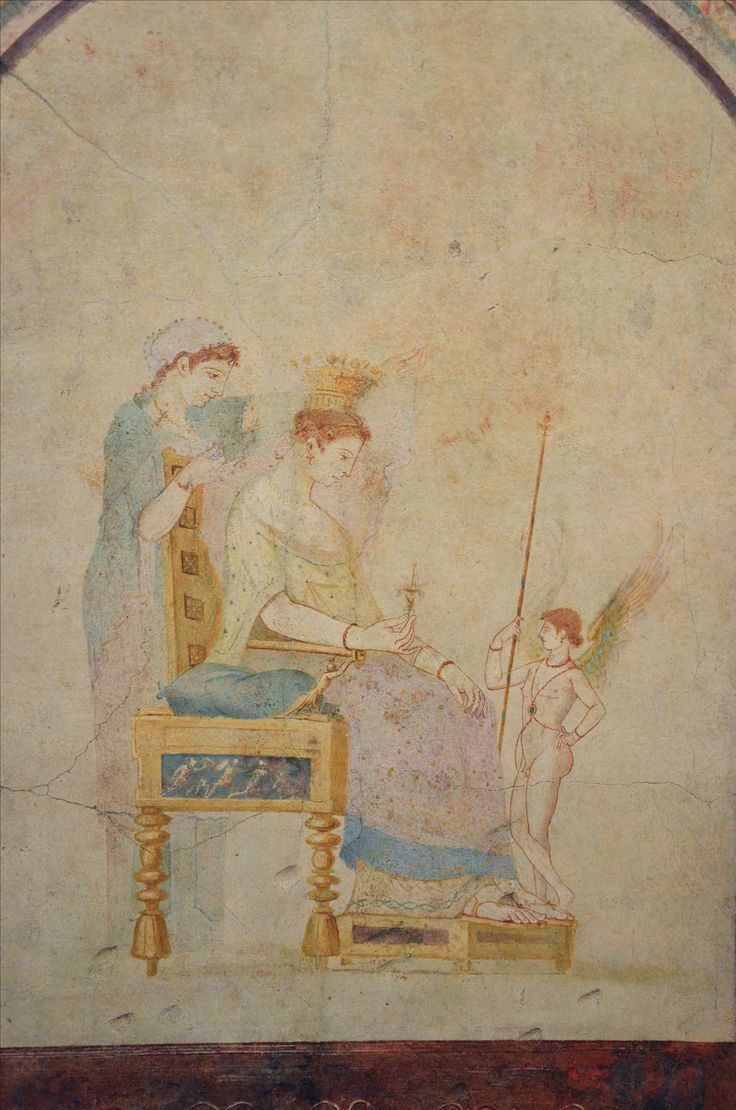 Casa della Farnesina di Agrippa, Roma. Gli affreschi dell'inizio del I secolo d.C. Venere. Museo Nazionale Romano