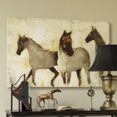 """Horses at Rest Giclee on stretched canvas. 30"""" high & 47"""" wide. $329"""