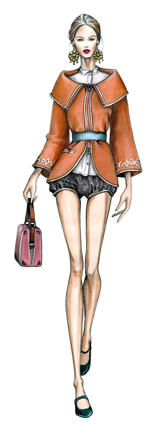 ilustrações de moda