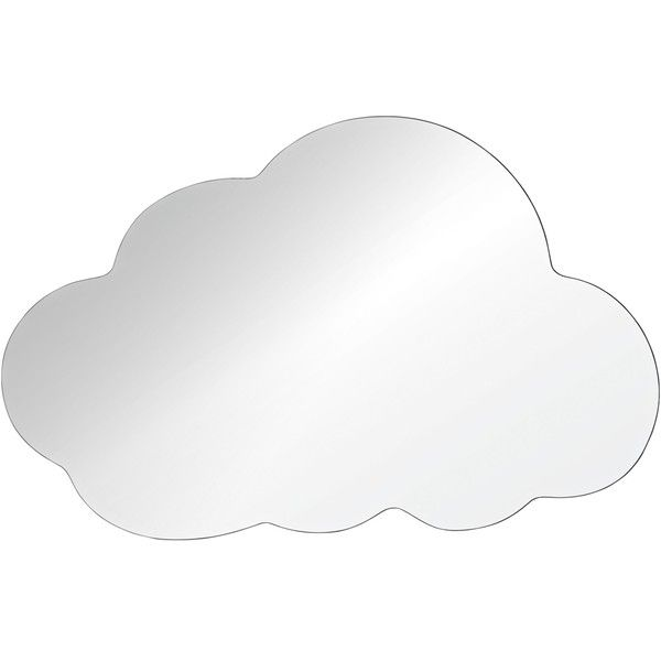 """Snowdrop 30""""x48"""" Cloud Wall Mirror (€190) ❤ liked on Polyvore featuring home, home decor, mirrors, decor, contemporary home decor, contemporary wall mirrors, beveled wall mirror, beveled mirror and frameless mirror"""