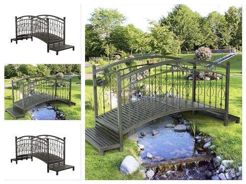 Metal-Garden-Bridge-Outdoor-Landscape-Decorative-Yard-Backyard-Pond-Walkway-Path
