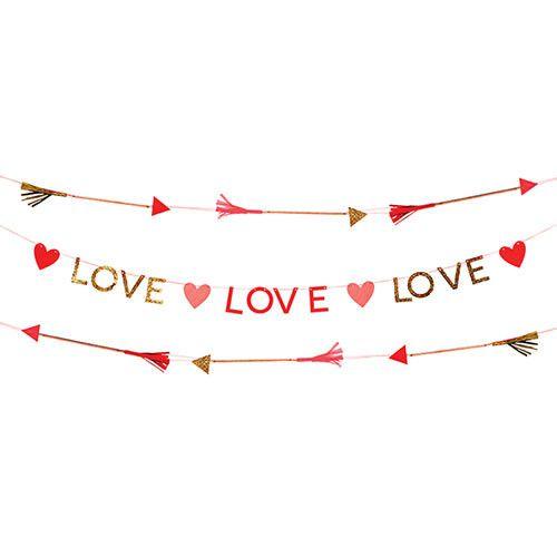 Valentines Love Hearts Garland