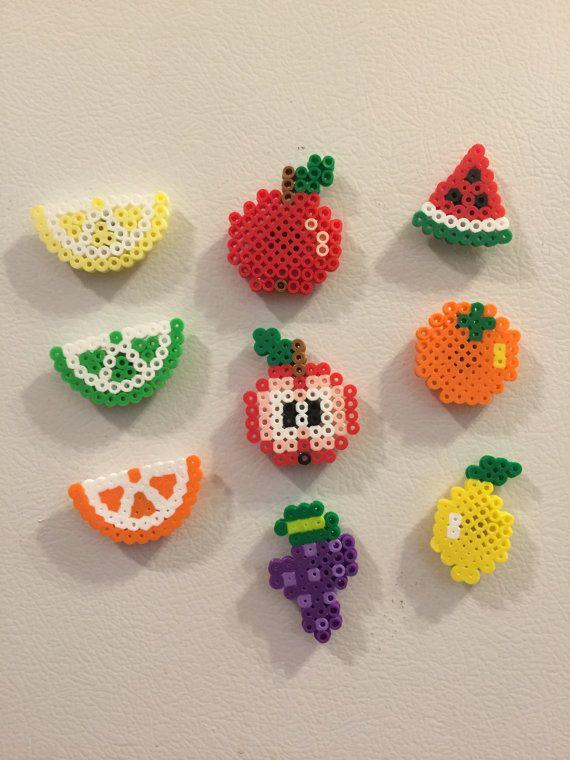 Perler Magnet Perler beads Perler magnet by AmeliasWreathsofJoy