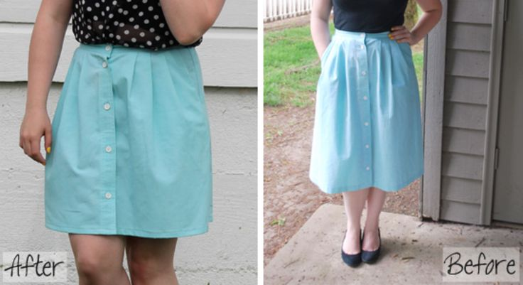 Learn how to shorten a hem of a skirt or dress with our easy step by step tutorial. You can use a machine or sew by hand.