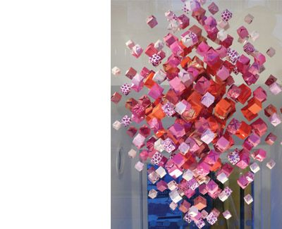 91 best paper glows images on pinterest for the home lamp design recycled paper origami chandelier originally uploaded by jacqui symons check out this really creative recycled paper chandelier that j aloadofball Gallery