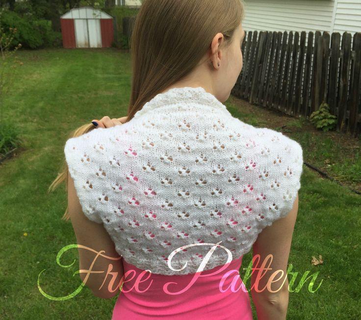 Free Spring Dew Drops Knit Shrug Pattern