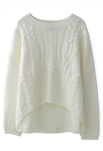 ++ Cable Knit Pullover Sweater