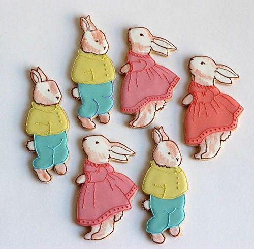 TumblrDecor Cookies, Easter Bunnies, Beatrix Potter, Peter Rabbit, Cookies Cutters, Bunnies Cookies, Easter Cookies, Children Book, Gold Shoes