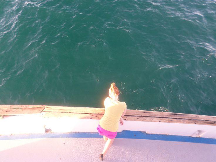 On the boat in Puerto Penasco, Mexico