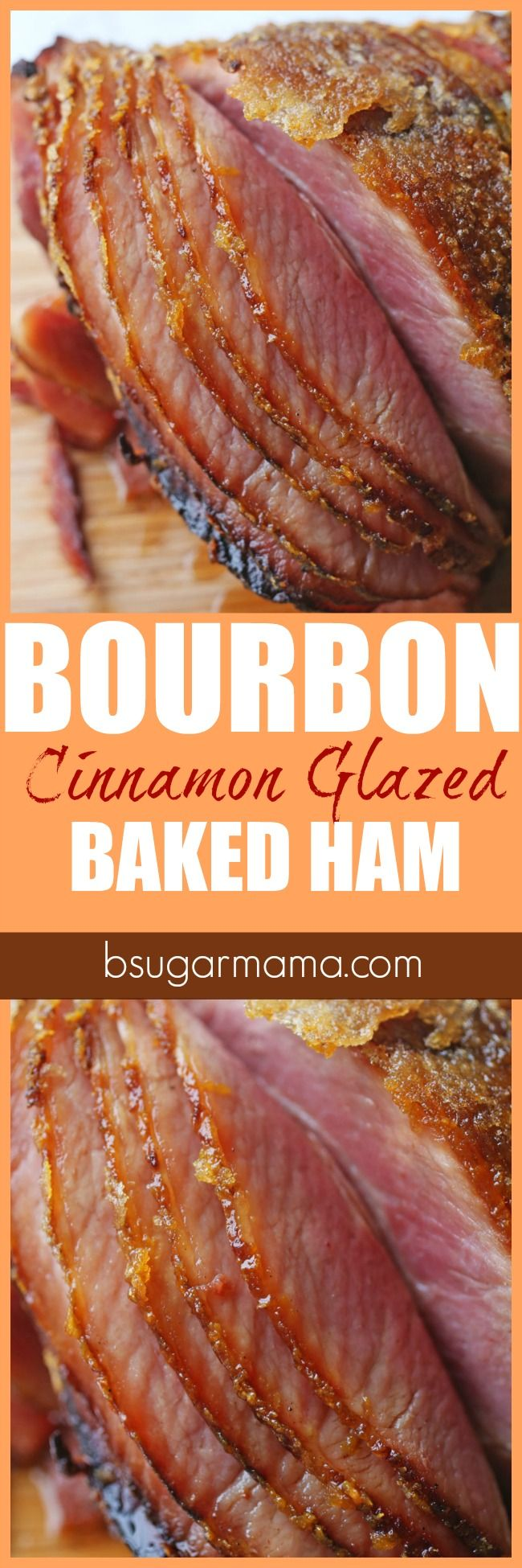 Check out this Bourbon and Cinnamon Glazed Baked Ham recipe. This baked ham recipe is perfect for your Thanksgiving dinner or Christmas dinner. #OHPork