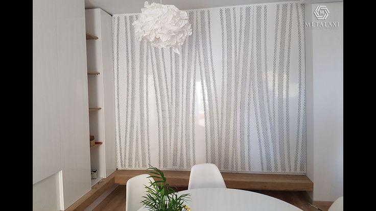 ΕΠΕΝΔΥΣΗ ΜΕ ΚΡΥΦΟ ΦΩΤΙΣΜΟ Wall covering made of perforated aluminium. Innovative Architectural Products. Life is in the details. www.metalaxi.com