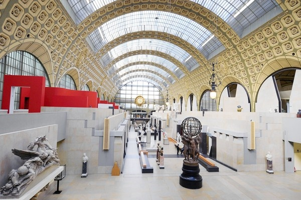 Designed by Italian architect Gae Aulenti, the Musee d'Orsay in Paris is shown in 2009.