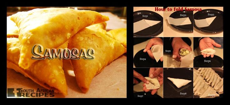 South African Recipes SAMOSAS (Beef & Potato fillings) (Donna-Maree)