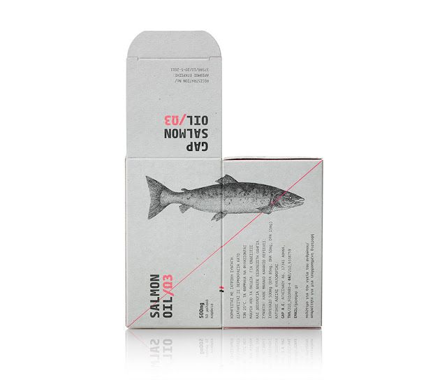Salmon Oil on Packaging of the World - Creative Package Design Gallery