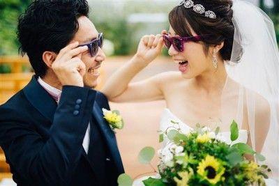 【画像】新しいサングラスの活用方法、「サングラスウエディング」が登場!
