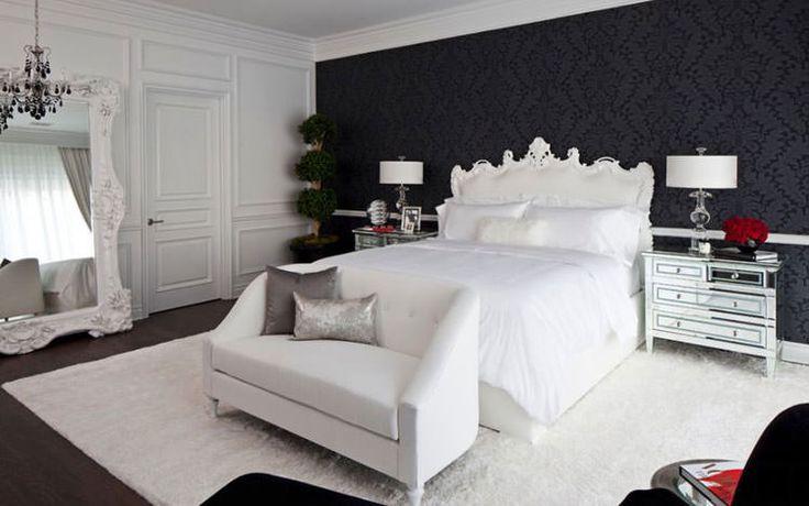 Idee per arredare la camera da letto in bianco e nero n.23