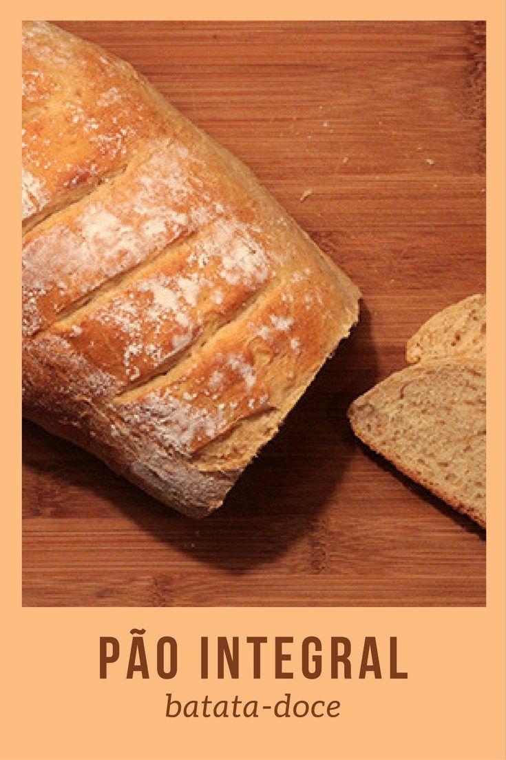 Pão Integral de Batata-doce    Receita para você fazer um pão caseiro saudável e muito saboroso usando batata-doce e farinha integral.