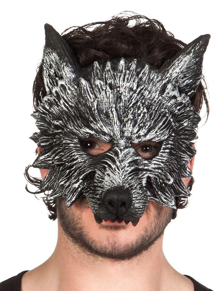 Maschera da lupo mannaro adulto - Halloween: Questa maschera da uomo lupo per adulto misura circa 28 cm di larghezza ed è realizzata in spugna rigida.Si tratta di una mezza maschera che copre solo la parte anteriore del viso e che si... #halloween #maschere #halloweenmaschere