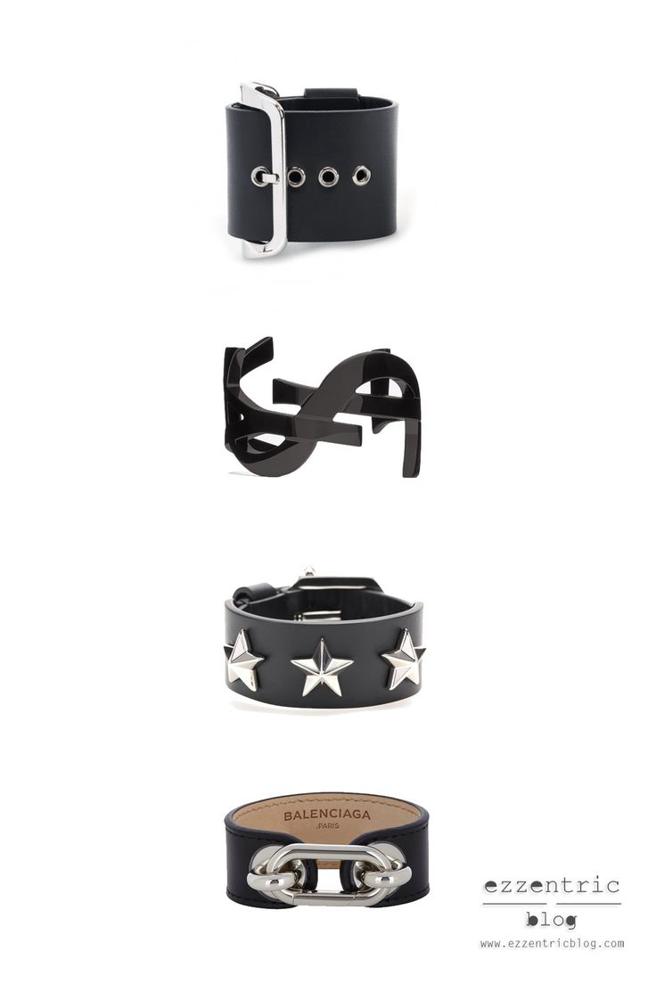 Five Must Have Black bangles for Winter 2014 More on blog: http://EzzentricBlog.com  #fw2014 #bangles #saintlaurent #givenchy #balenciaga