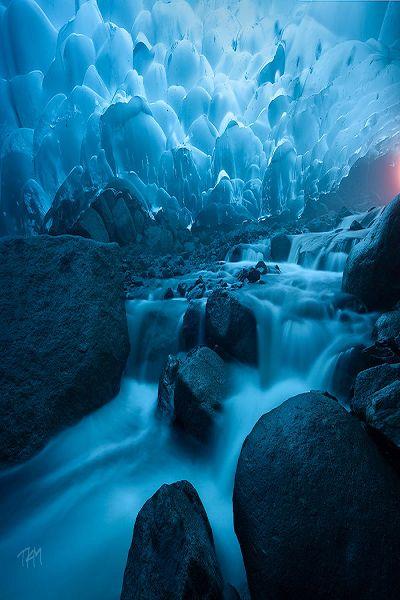 Beyond Daylight, Ice cave waterfall