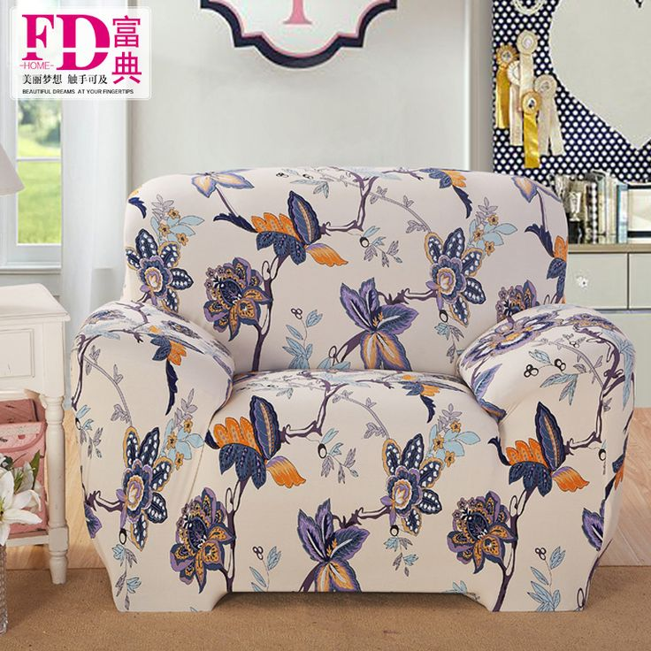 Flowers pattren 100% polyester Sofa cover Big Elasticity flexible Couch cover Loveseat sofa Funiture Cover Design #Affiliate