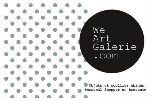 We Art Galerie, objets et mobilier vintage, Personnal Shopper en Brocante, Antiquaire à Lille