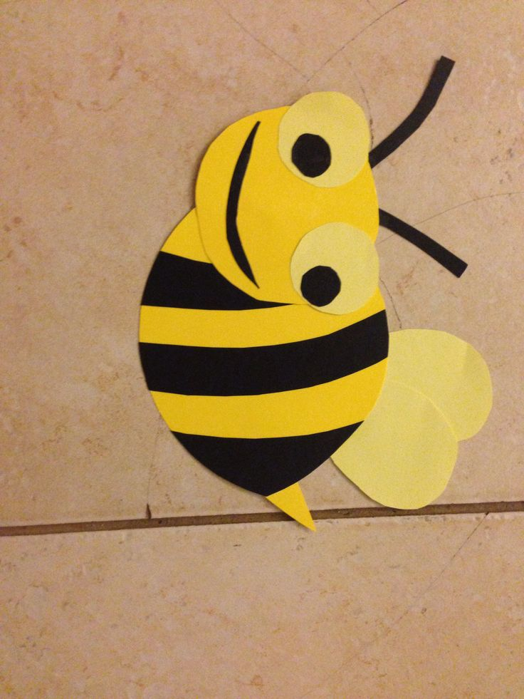 Bumble bee construction paper how to animal crafts for Where to buy contact paper for crafts