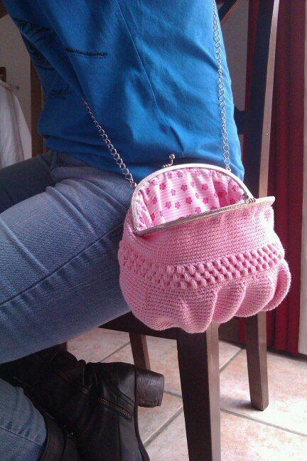 bolso ganchillo / crochet bag ce l'hai la chiusura usala