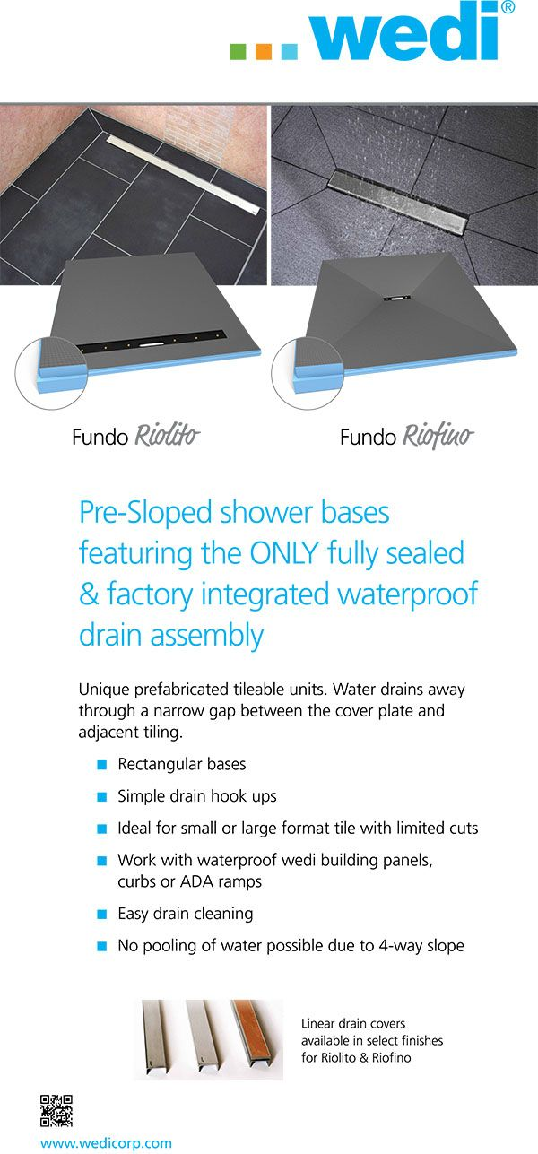 Wedi Shower Pan Sizes | Ceramic Tile Shower Pan Kits Seems perfect for Steph's shower... share with ML & Jerry
