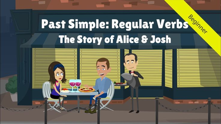 Teach students the past simple tense – regular verbs using this cute, but unfortunate love story of Alice and Josh.