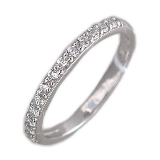 Популярное кольцо с дорожкой фианитов из серебра Н11К152673