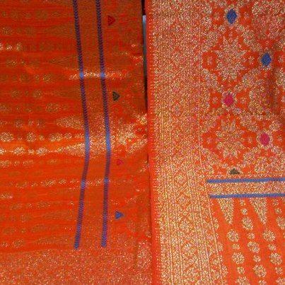 Japanesse rose orange pattern