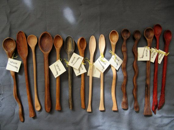 Large Hand Carved Wood Spoons Gift Ideas For Foodies