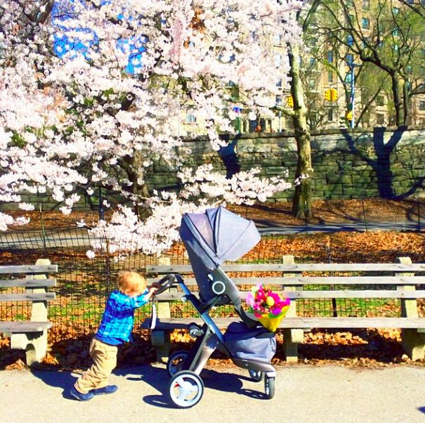 For your little energizer bunny, the Stokke Xplory stroller comes equipped with an adjustable handlebar ! @Jodi Wissing Kendall