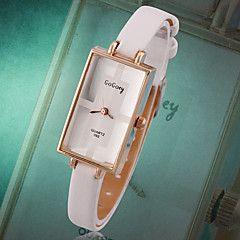 Heren+Dames+Uniseks+Modieus+horloge+Polshorloge+Kwarts+Echt+leer+Roos+verguld+Band+Vintage+Vrijetijdsschoenen+Elegante+horloges+–+EUR+€+8.63