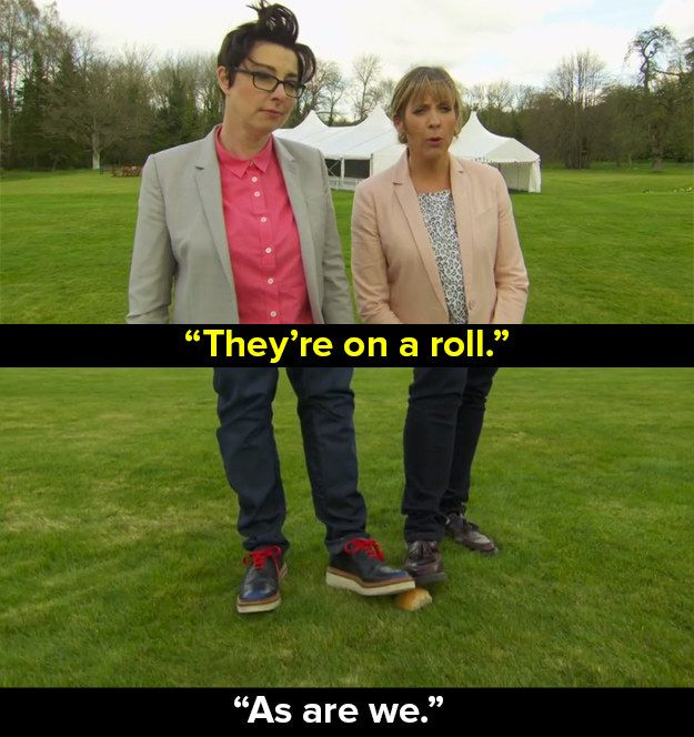 "When Mel and Sue introduced Bread Week. | 17 ""Bake Off"" Puns That Will Make Us Miss Mel And Sue"