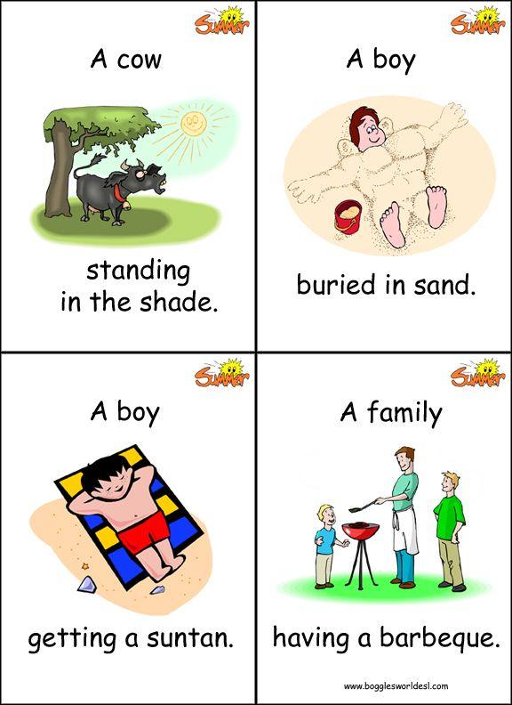 Картинки по запросу summer activities flashcards